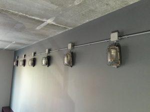 industriele kooi wandlampen