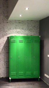 industriele lockerkast 4 deurs groen