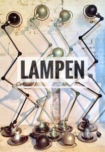 Vintage lampen Brocante Fabriek