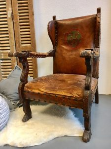 Vintage fauteuil leer