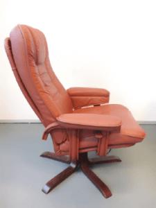 Rode Fauteuil Leer.Vintage Rode Leren Designfauteuil Brocante Fabriek Oosterhout Nb